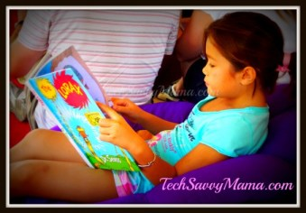 LittleMissTechie Reads a Favorite Book TechSavvyMama.com