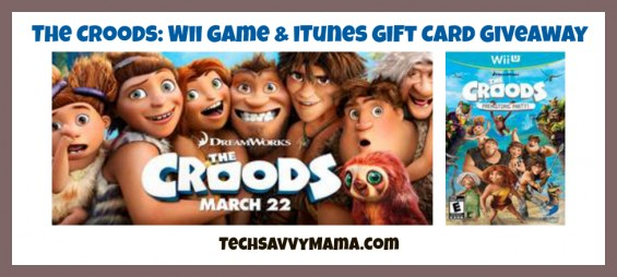 The Croods Wii Game & iTunes Giveaway TechSavvyMama.com