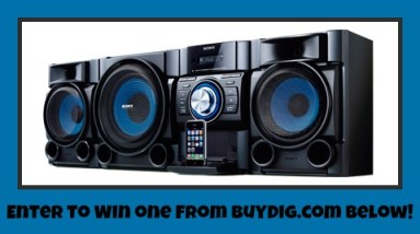 Sony Hi-Fi Music System BuyDig.com Giveaway