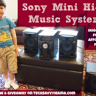 {Review & Giveaway} Sony's Hi-Fi Music System Brings BIG Sound to Your iPod