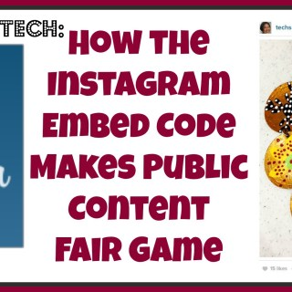 On Babble Tech: Instagram Embed Code Makes Content Fair Game for Anyone