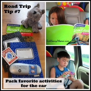 Pack favorite activities for the car