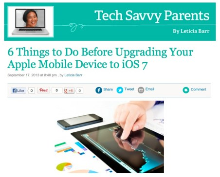 6 Things to Do Before Upgrading Your Apple Mobile Device to iOS 7