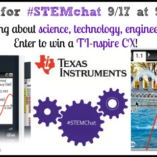 Back to School #STEMchat & TI-Nspire™ CX Giveaway  9/17 9 pm ET {sponsored}