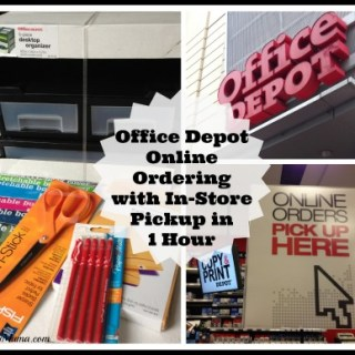 Review: Office Depot Online Ordering with In-Store Pickup in an Hour {sponsored}
