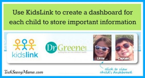 KidsLink Child Dashboard Navigation