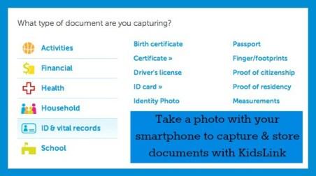 KidsLink Document Types
