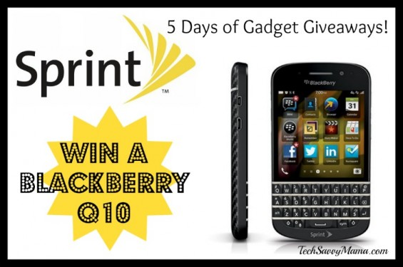 Sprint Blackberry Q10 Giveaway I TechSavvyMama.com