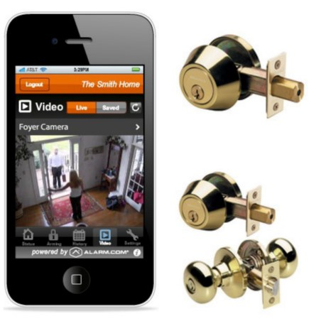 Images courtesy of MasterDoorLock.com and Alarm.com
