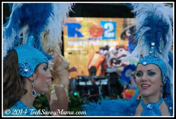 Samba dancers at Rio 2 World Premiere, Miami at Rio 2 World Premiere, Miami