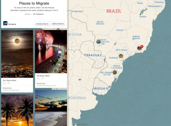 Places to Migrate Pinterest Pin Board