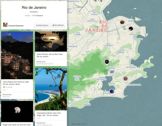 Rio de Janiero Pinterest Place Board