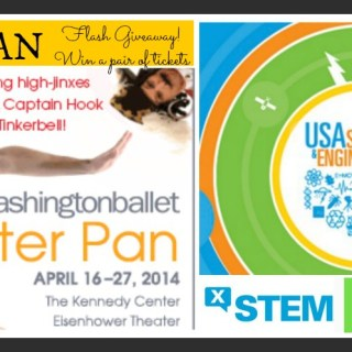 Flash Giveaway Sunday for DC Readers! Tickets for Washington Ballet's Peter Pan Tickets and USA Science & Engineering Festival X-STEM Symposium