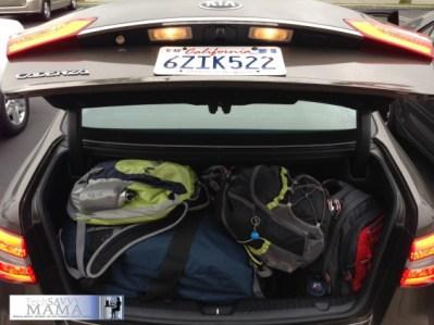 2014 Kia Cadenza Trunk Space