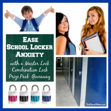 Master Lock Combination Lock Prize Pack Summer Giveaway Eases Back to School Locker Anxiety