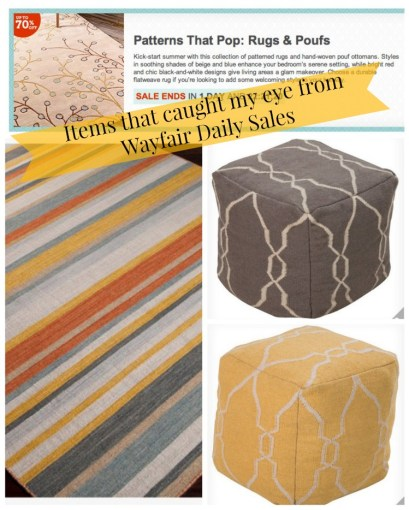 Rugs and Poufs from Wayfair.com
