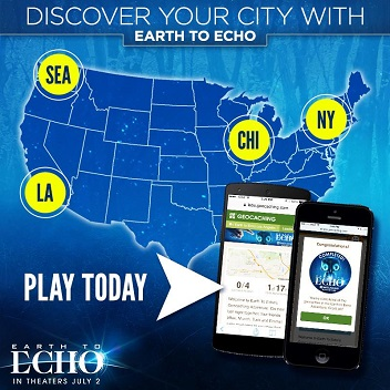 National Earth to Echo Geocache