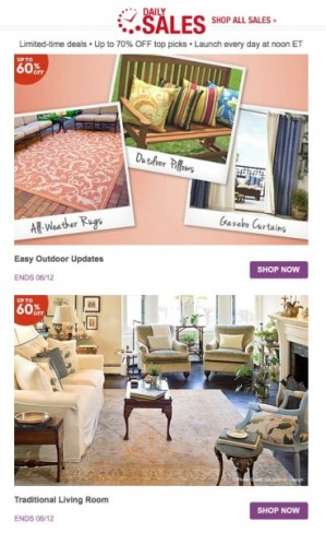 Wayfair Daily Deals Email