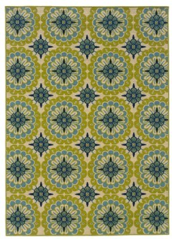 riental Weavers Caspian Green/Blue/Ivory Indoor/Outdoor Rug from Wayfair.com