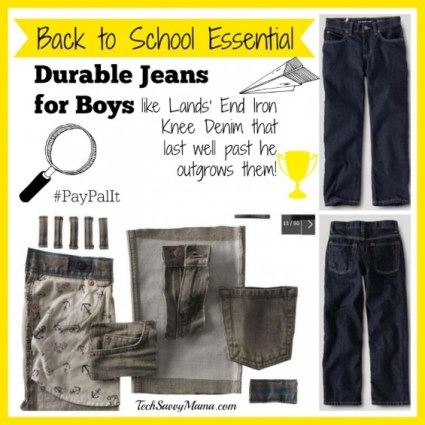 Back to School Essential Iron Knee Jeans for Boys from Lands' End #PayPalIt
