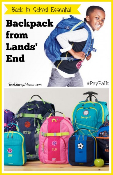 Back to School Essential Lands' End Backpacks #PayPalIt