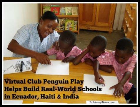Virtual Club Penguin Play Helps Build Real-World Schools in Ecuador, Haiti & India
