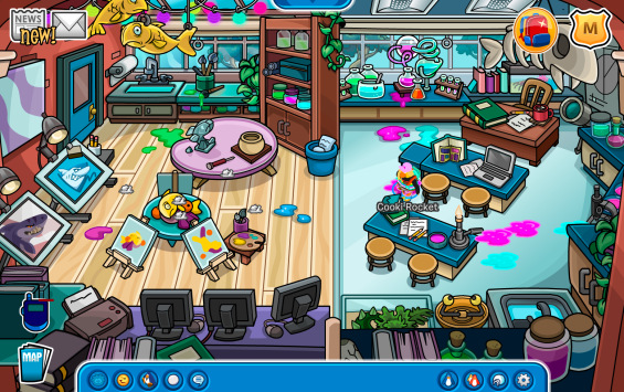 Club Penguin Build a School Classroom