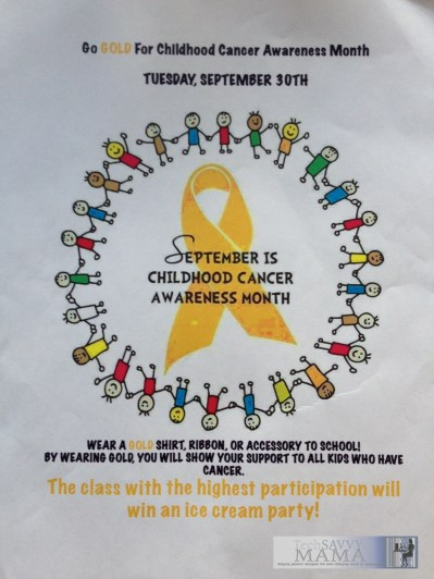 Childhood Cancer Awareness Flier