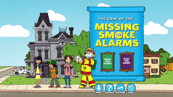 The Case of the Missing Smoke Alarms App Teaches Fire Safety