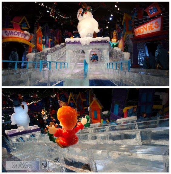 ICE featuring Frosty the Snowman at Gaylord National Harbor ice slides