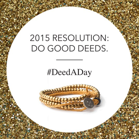 2015 Resolution: Do Good Deeds #DeedADay