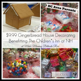 DC Metro Area Readers: Make Meaning Bethesda Row Offers $9.99 Gingerbread House Decorating Benefitting Children's Inn at NIH