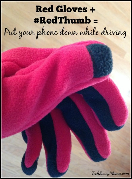 Red Gloves + RedThumb = Put Your Phone Down While Driving