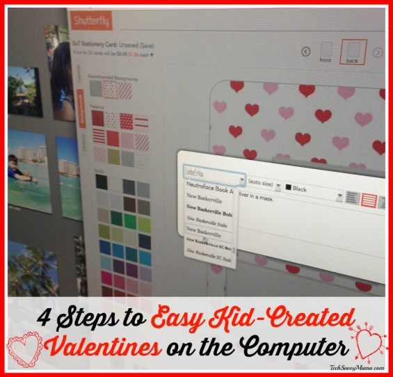 4 Steps to Easy Kid-Created Valentines on the Computer