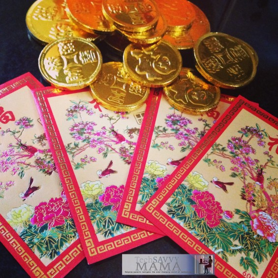 Li See Envelopes and Gold Coins for Chinese New Year