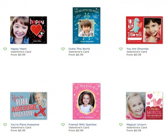 Valentine's Day Cards for Kids from Shutterfly