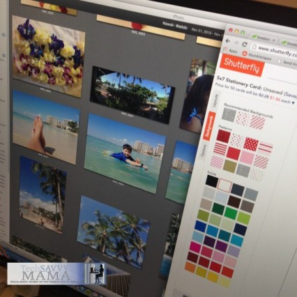Using Shutterfly with Kids to Customize Holiday Cards. Tips on TechSavvyMama.com