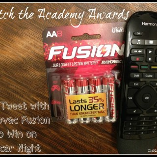 Watch the Academy Awards & Tweet with Rayovac Fusion to Win on Oscar Night