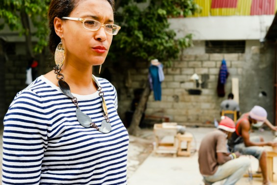 Christelle Paul, Horn and Bone artist in Port au Prince, Haiti