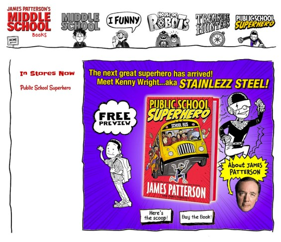 James Patterson Public School Superhero Website