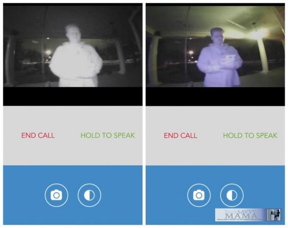 SkyBell WiFi Doorbell Night Vision Capabilities