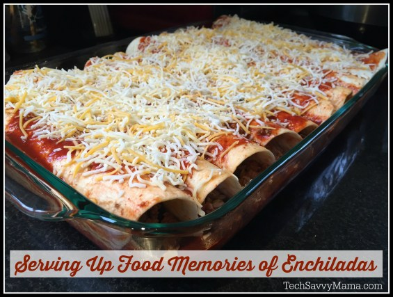 Serving Up Food Memories of Enchiladas for #Pyrex100 on TechSavvyMama.com