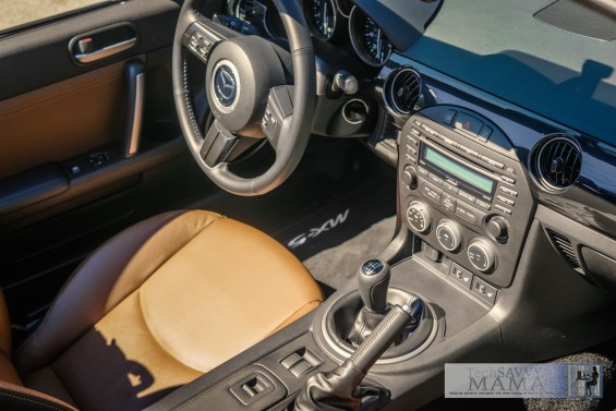 Interior of the Mazda MX-5 Miata Grand Touring Edition