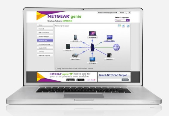 NETGEAR Genie for easy setup of the Nighthawk X6 AC3200 (R8000)