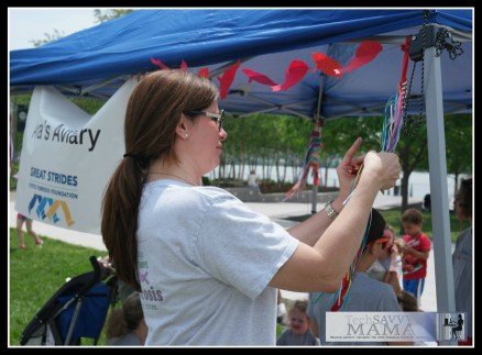 Buying Ribbon Barrettes at Great Strides Walk DC