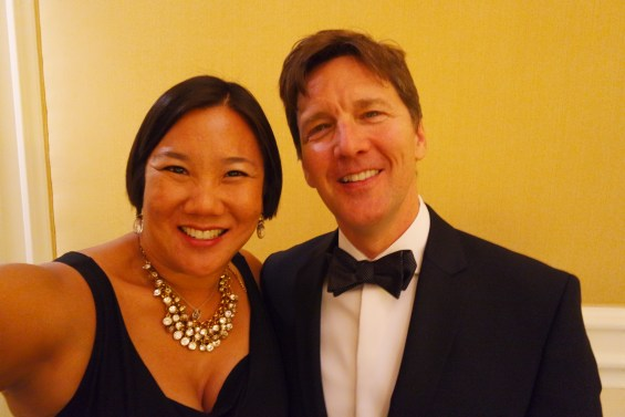 Leticia takes a selfie with her tween crush, Andrew McCarthy from Pretty in Pink at the Iris Awards, Mom 2.0, Scottsdale, AZ © 2015, Leticia Barr All Rights Reserved