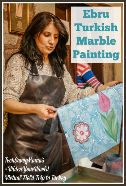 Ebru Turkish Marble Painting. Learn all about this ancient art form in TechSavvyMama.com's #LoveFromTurkey #WidenYourWorld Virtual Field Trip to Turkey