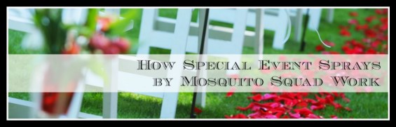 How Special Event Sprays by Mosquito Squad Work. Info on TechSavvyMama.com