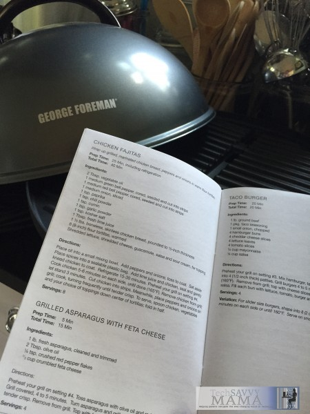 George Foreman 15 Serving Indoor/Outdoor Electric Grill Cookbook and other features on TechSavvyMama.com