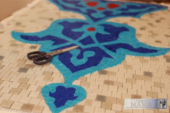 Mosaic Replica at Cafe Medresesi by Leticia Barr- TechSavvyMama.com Istanbul, Turkey © 2015, Leticia Barr All Rights Reserved